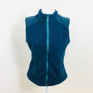 REI Wicking Fleece River Teal Vest Jacket